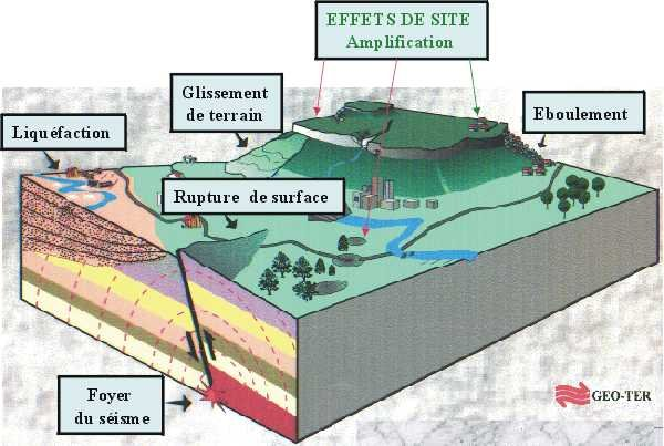 Drawing of the effects on site